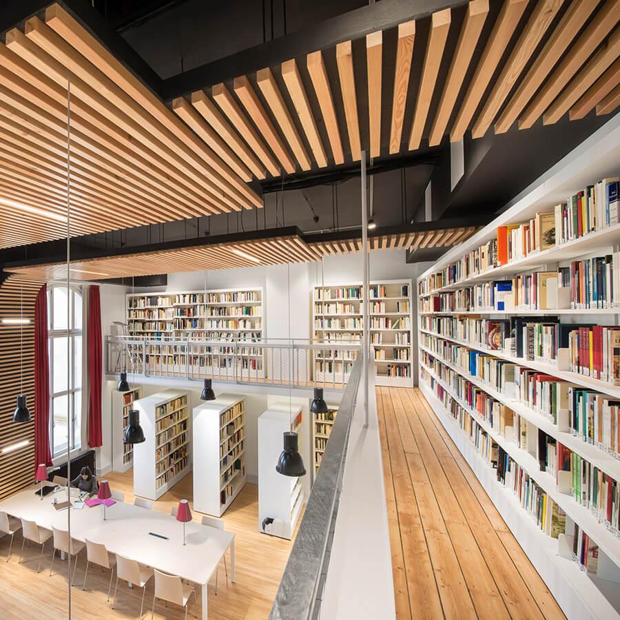 IDM Education - Bibliothèque universitaire Strasbourg, étage